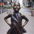 Screengrab from State Street Global Advisors - Fearless Girl .