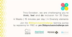Change the way you think, feel and DO inclusion for the next 30 days