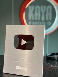 Kaya FM receives YouTube Silver Button Award