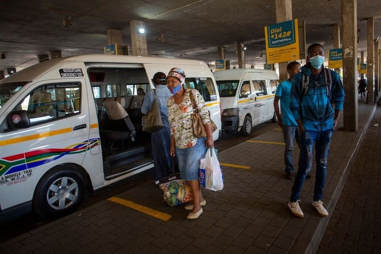 Profit margins in South Africa's minibus taxi industry have been under pressure long before the Covid-19 lockdown. Karel Prinsloo / AFP via GettyImages