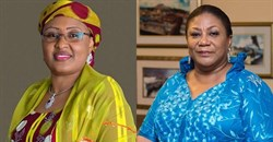 The first lady of Nigeria, Dr Aisha Muhammadu Buhari and the first lady of Ghana, Rebecca Akufo-Addo. Images source: Facebook.