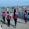 Activists of the Movement for Change and Social Justice canvassing the streets of Gugulethu in Cape Town. MCSJ