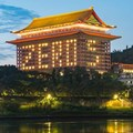 The Grand Hotel Taipei in Taiwan lights up rooms to mark five days with no new COVID-19 cases.