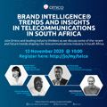 Webinar on brand intelligence trends and insights in telecommunications in South Africa