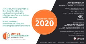 Barcelona Principles 3.0 on show during Measurement Month 2020