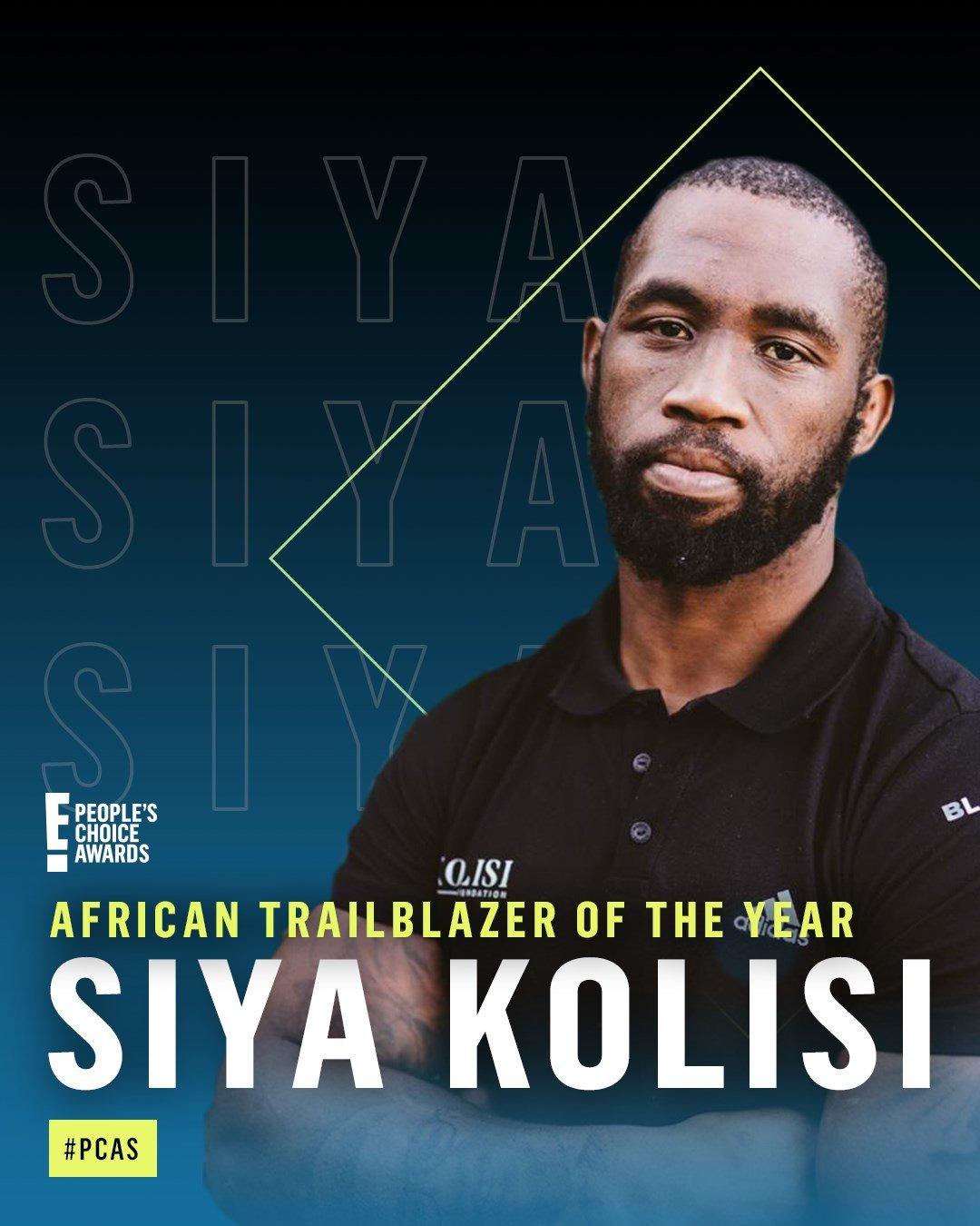 Siya Kolisi named African Trailblazer of the Year at 2020 E! People's Choice Awards