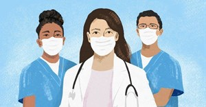 Over 1,700 health workers in the UK's NHS said they were South African. Illustration: Lisa Nelson