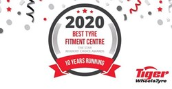 Tiger Wheel & Tyre voted Best Tyre Fitment Centre