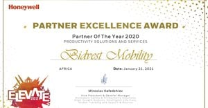 Double scoop for Bidvest Mobility at Honeywell Partner Excellence Awards