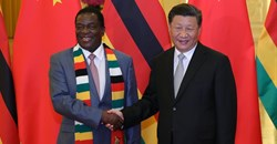 Zimbabwe's President Emmerson Mnangagwa meets his Chinese counterpart President Xi Jinping in Beijing, in 2018. EPA-EFE/Lintao Zhang / POOL