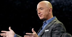 Jeff Bezos reshaped retail as CEO of Amazon. AP Photo/John Locher