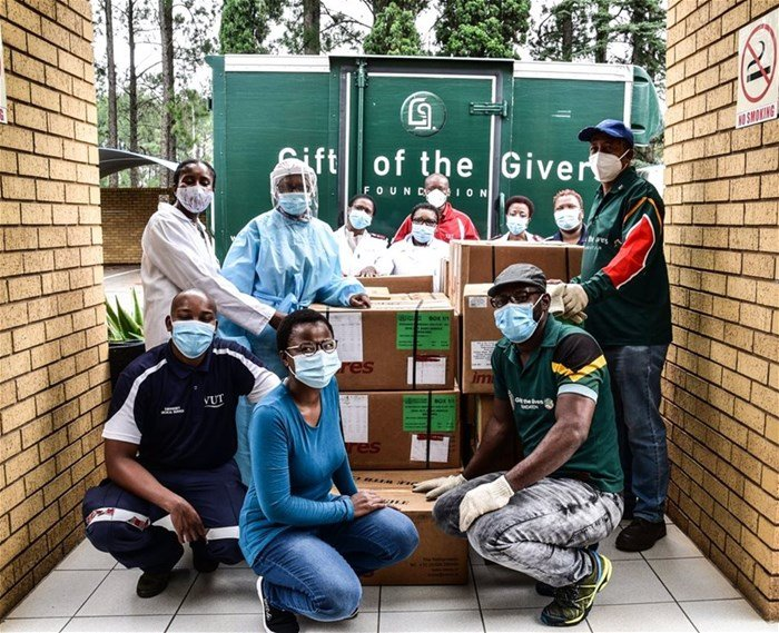 Gift of the Givers donation received by campus clinic delegates