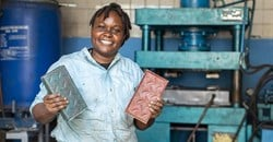 Kenya's Nzambi Matee recycles plastic to make bricks stronger than concrete