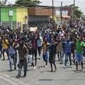 Young Angolans protest for bettter living conditions in the capital Luanda in 2020. EFE-EPA