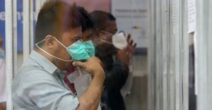 Train passengers carried out a Covid-19 detection test with the GeNose C19 screening at Pasar Turi Station, Surabaya, February 15, 2021. ANTARA FOTO/Didik Suhartono/rwa