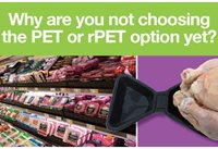Ultrazorb polystyrene meat trays: now also in PET and rPET