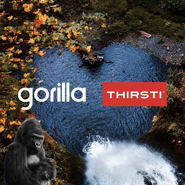 Gorilla gets Thirsti