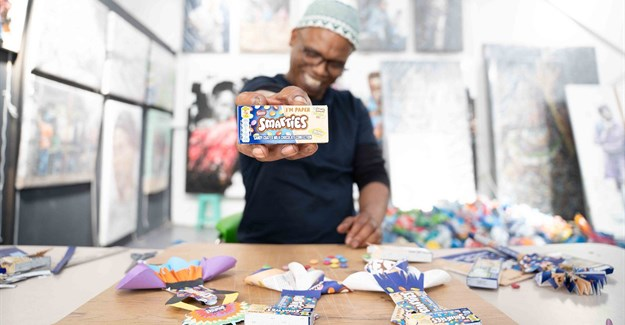 Smarties celebrates sustainable packaging milestone with artist collab