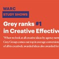 Grey Group ranked #1 in creative effectiveness