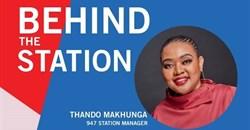 Behind the station: Thando Makhunga