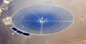 Concentrated solar power plant. Source Wikipedia