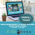 Amasa Media Management in Brand Building online course with Vega School: 1 July-9 September 2021