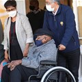 Archbishop Desmond Tutu leaves after receiving his coronavirus (Covid19) vaccination in Cape Town, South Africa, May 17, 2021. Reuters/Mike Hutchings