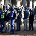 Job seekers stand outside a construction site ahead of the release of the unemployment numbers by Statistics South Africa, in Eikenhof, south of Johannesburg, South Africa, June 23, 2020. Reuter/Siphiwe Sibeko/File Photo