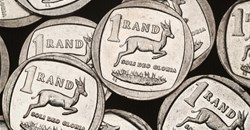 South African Rand coins are seen in this illustration picture taken October 28, 2020. Reuters/Mike Hutchings/Illustration