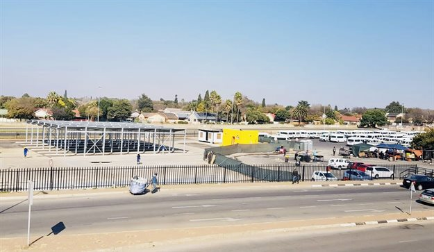 First phase of the refurbishment being undertaken at the taxi rank of East Rand Mall.