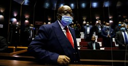 Former South African President Jacob Zuma arrives in court to face corruption charges in Pietermaritzburg, South Africa, May 26, 2021. Phill Magakoe/Pool via Reuters