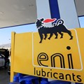 A police car is being filled with fuel at a gas station next to the sign of Italian energy Eni company in the Red Sea resort of Sharm el-Sheikh, Egypt February 6, 2021. Reuters/Amr Abdallah Dalsh
