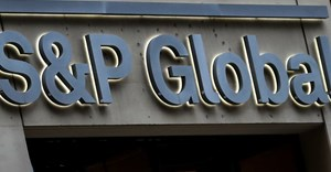 The S&P Global logo is displayed on its offices in the financial district in New York City, U.S., December 13, 2018. Reuters/Brendan McDermid