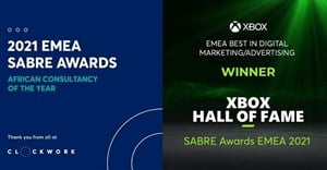 Clockwork named African Consultancy of the Year at the Sabre Awards EMEA 2021