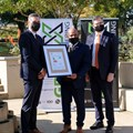 Cloetesville Primary receives its Electrical Performance Certificate. Image: Stefan Els