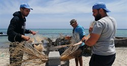 Palm fronds and stones: creating reefs to heal Tunisia's polluted seas