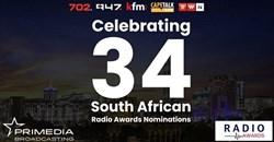 Primedia Broadcasting celebrates 34 South African Radio Awards nominations