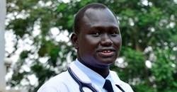Samuel Dhol Ayeun, a trainee doctor who fled from South Sudan to Uganda. ReuterAbubaker Lubowa