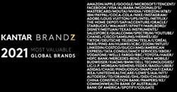 Kantar BrandZ Most Valuable Global Brands 2021