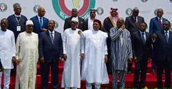 West African leaders and officials stand for a photo at the Ecowas extraordinary summit on terrorism in Ouagadougou, Burkina Faso. Reuters/Anne Mimault