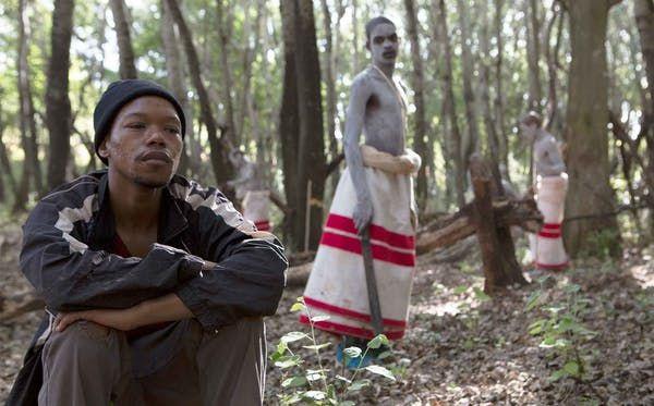 Star of Inxeba, Nakhane (front), received death threats for the role. Inxeba/Urucu Media