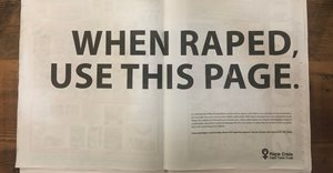Cannes Lions 2021 awards a Silver Lion to 'The Rape Page' by Ogilvy Cape Town and Rape Crisis
