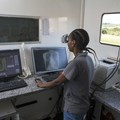 Healthcare worker, Boitsholo Mfolo, inside the digital x-ray truck at one of Africa Health Research Institute's mobile screening camps in rural KwaZulu Natal, South Africa. Samora Chapman/ Africa Health Research Institute