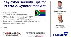 Free webinar recording on key cybersecurity tips for POPIA and Cybercrimes Act