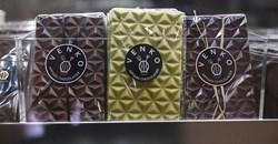 Artisanal chocolate bars are seen on display at Venko Chocolatier in Dakar, Senegal, July 6, 2021. Source: Reuters/Cooper Inveen