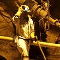 A mine worker is seen underground in South Deep mine outside Johannesburg, file. Reuters/Siphiwe Sibeko