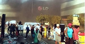 LG factory in Durban looted and set alight