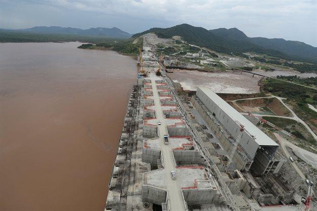 Ethiopia's Grand Renaissance Dam is seen as it undergoes construction work on the river Nile in Guba Woreda, Benishangul Gumuz Region, Ethiopia, 26 September 2019. Reuters/Tiksa Negeri