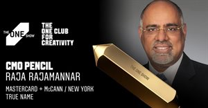 Mastercard's Raja Rajamannar awarded The One Show 2021 CMO Pencil