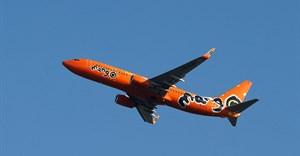 A Mango Boeing 737-800 aircraft takes off at King Shaka International Airport in Durban, South Africa, January 14, 2018. REUTERS/Rogan Ward